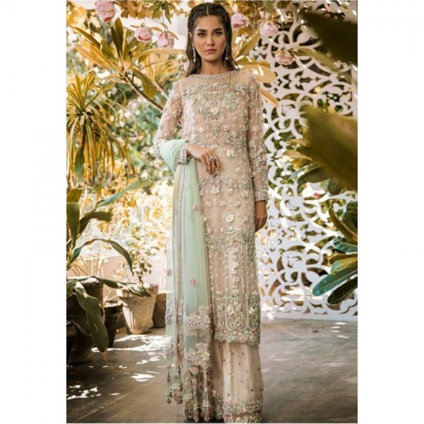 luxury bridal collection fully embroidered with mirror work