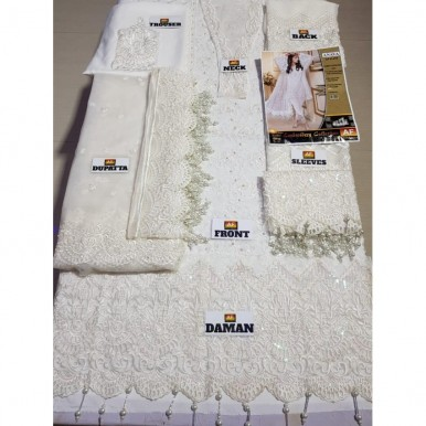 Beautiful and Elegant White Embroidered Dress