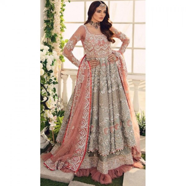 Heavy Embroidered Bridal Style Dress