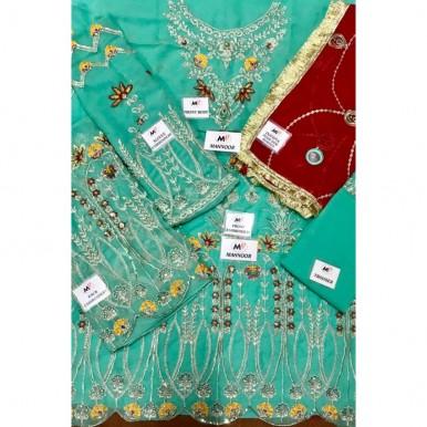 chiffon heavy embroidery