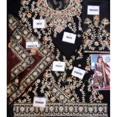 Chiffon with ZARI , SEQUINS & STONES WORK COLLECTION 2020