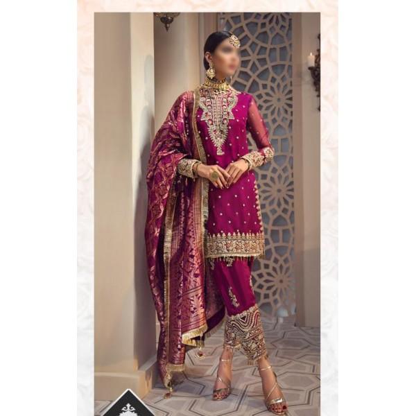 Luxury bridal collection in Magenta Color
