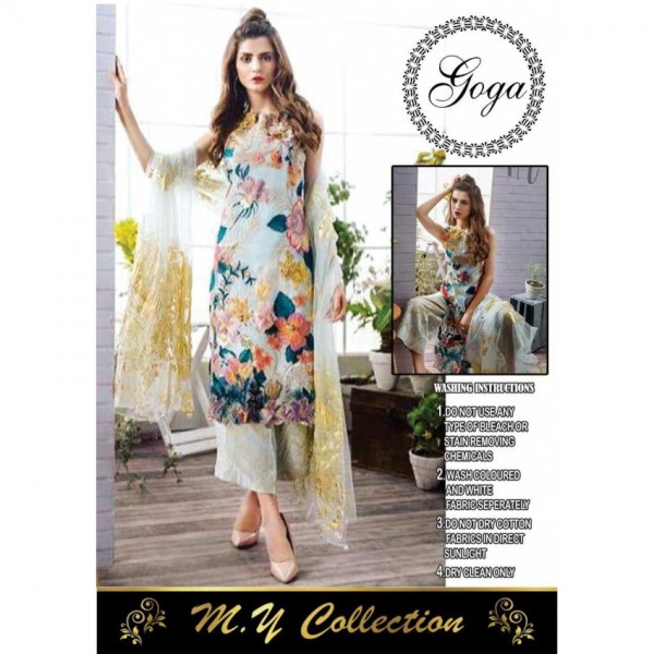 Multi color Thread Embroidered Dress for Her
