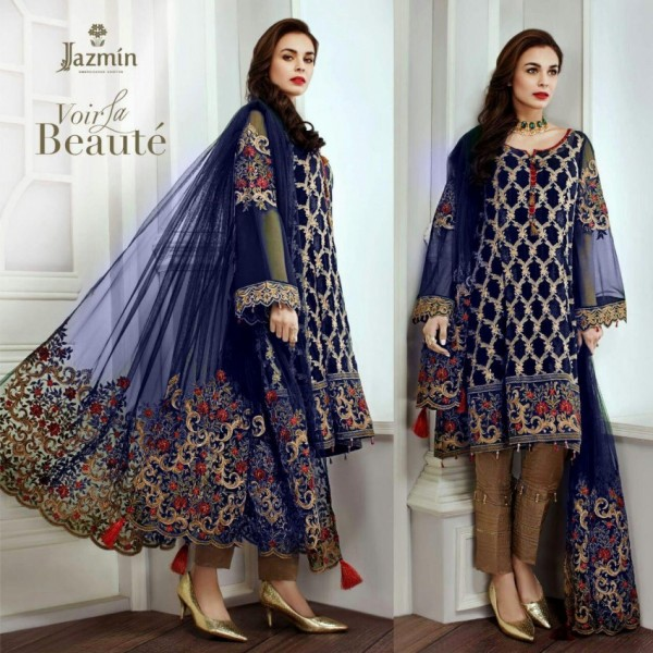 Chiffon embroidery suit net embroidery