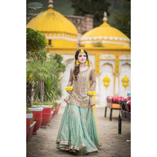 Chiffon handwork 2 pcs suit for ladies