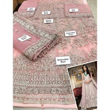 Bridal net Embroidery maxi