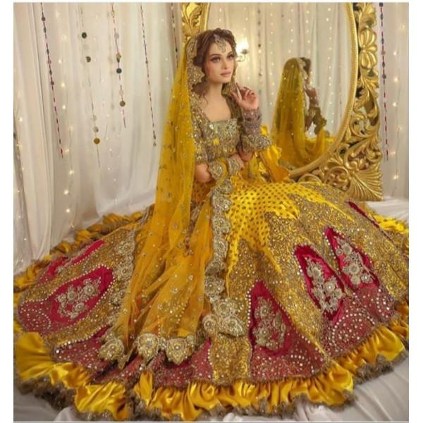 Full Heavy Mayo Mehndi Bride Dress