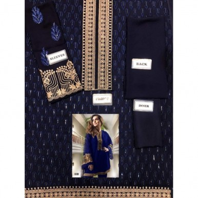Chiffon Embroidery Kurti in Blue Color