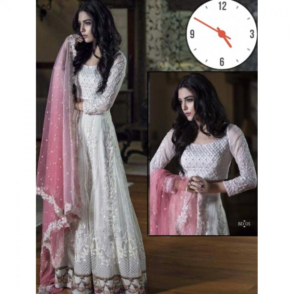 Embroidered valvet Dress with sequence and zari work