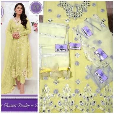 Elegant Party wear dress in organza fabric