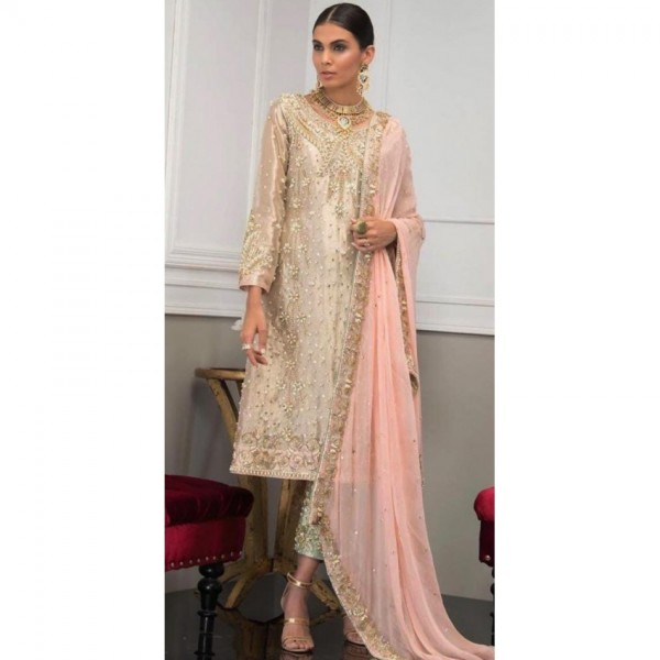 Front embroidered Dress for Ladies