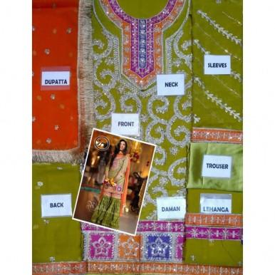 Mehndi wear Bridal dress