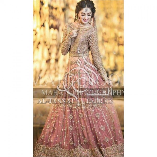 Bridal's Collection's Heavily Emb with A touch Of Hand Work style Stickones