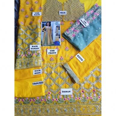 Embroidery chiffon Maxi