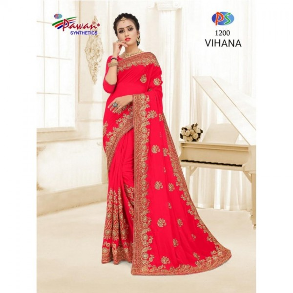Indian Chiffon Saree in Different colors