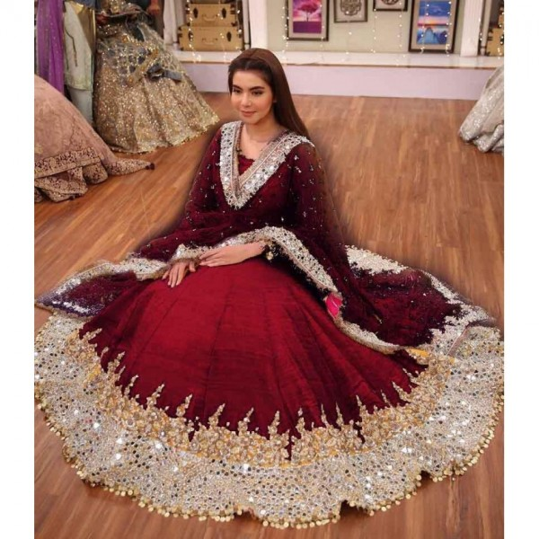 bridal embroidery suit