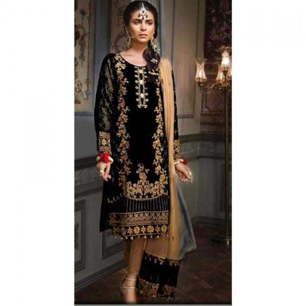 chiffon Bridal embroidery suit chiffon embroidery duppata