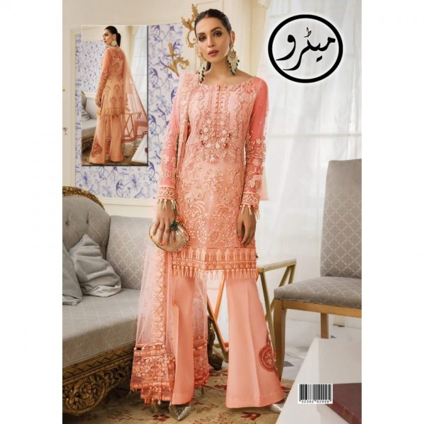 Stylish party and wedding wear Front neatness of heavy embroidery shirt with malai trouser