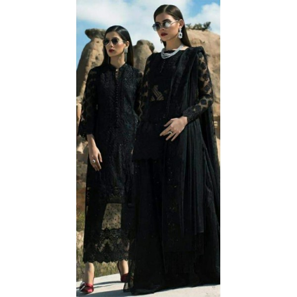 Black Colour Embroidered Dress for Her