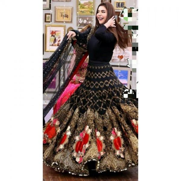 Velvet Body Lehnga Dress for Weddings
