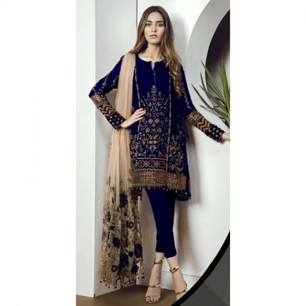 chiffon embroidered collection With threads and sequence