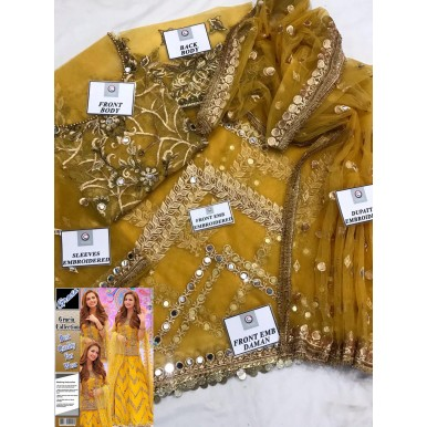 Mayo Mehndi Bridal Dress