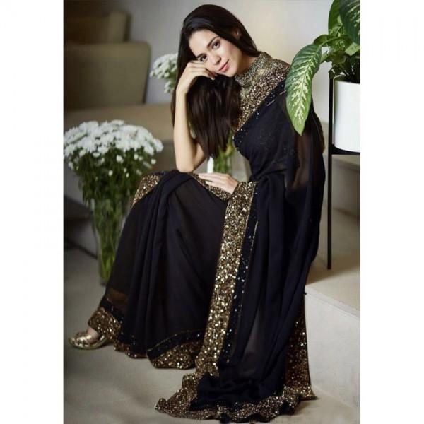 Beautiful Embroidered Chiffon Saree