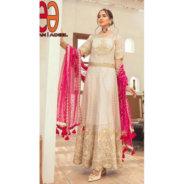 Beautiful Chiffon Embroidered maxi for her