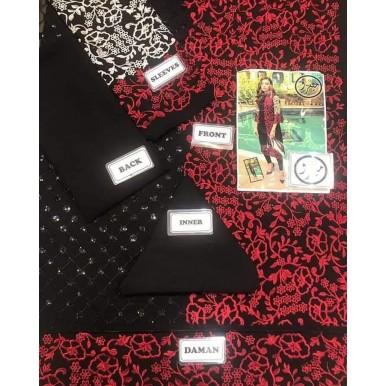 Chiffon Embroidery Kurti in Black