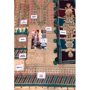 Chiffon Embroidered Dress with Beautiful Multi Dopatta