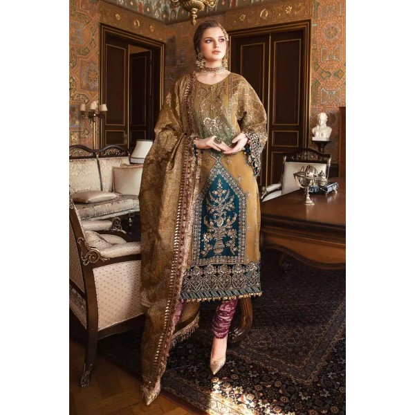 Royal Style Embroidered Dress for Her