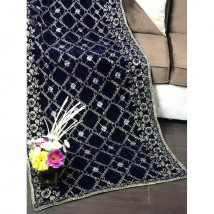 Luxury Embroidered Velvet Shawl for Ladies