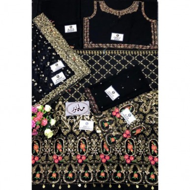 Fancy Dress with Heavy Embroidery