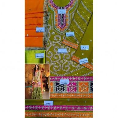 Dori sequence mehndi and mayyo wear dress for girls
