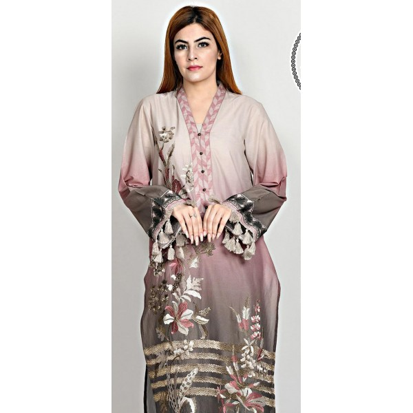 3 pcs Lawn dress for her with Embroidered Front