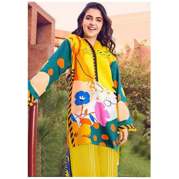 3pcs Digital Printed Lawn Dress For Her