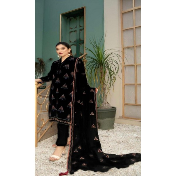 Summer Cool Black Cotton Dress For Her