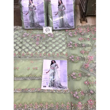 Net Embroidered Saree Eid Collection for her