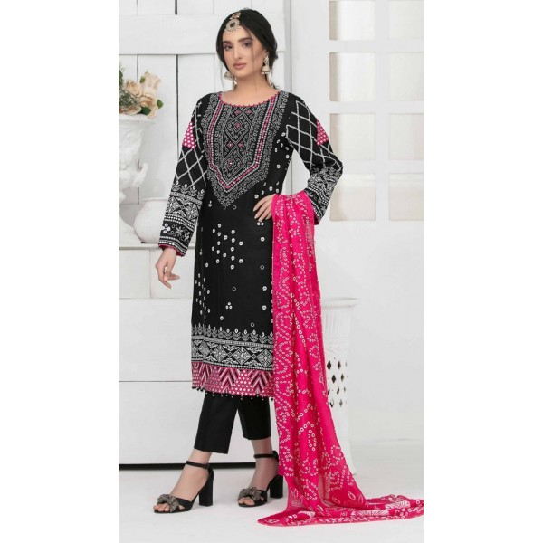 Black Embroidered Shesha Work Dress Collection with Balochi Work