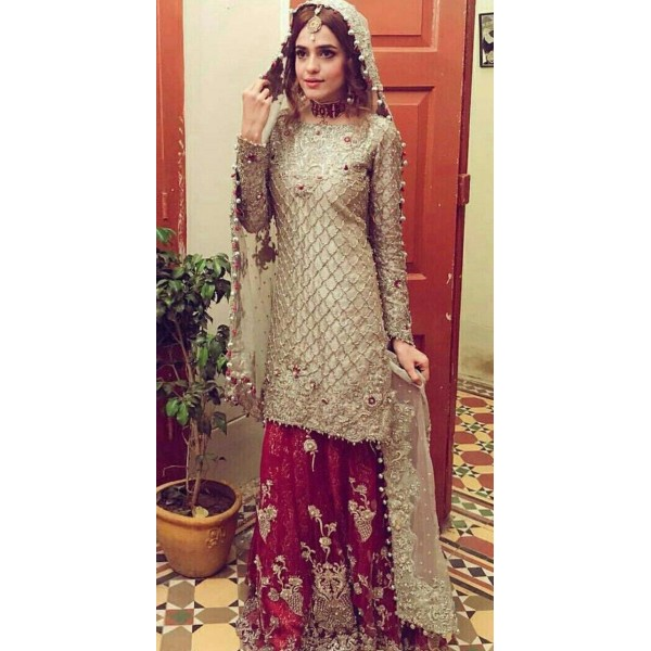 Embroidered Fancy Dress for Ladies