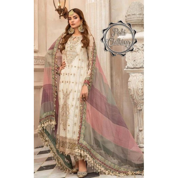 Full suit on CHIFFON with ORGANZA DUPATTA UNSTITCHED