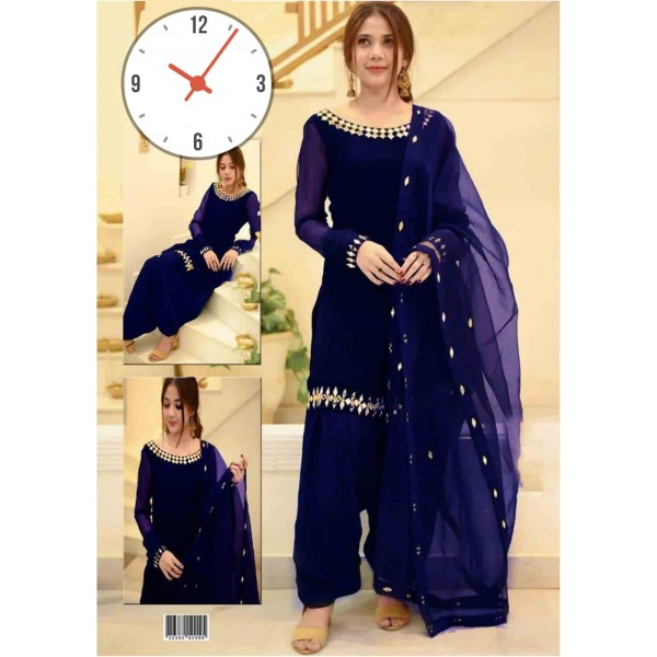 3pcs unstitched Decent Style Dress for Her in different colors