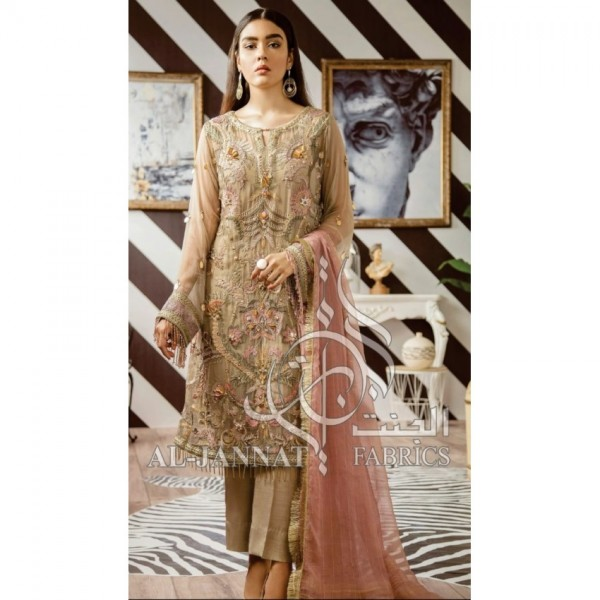 New Stylish Party Wear collection Full Heavily Embroidered dress