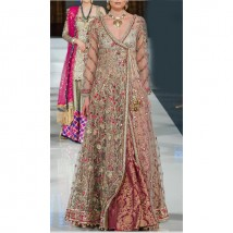 Angarkha style Net with jamawar inner BRIDAL COLLECTION SUIT FR-LB