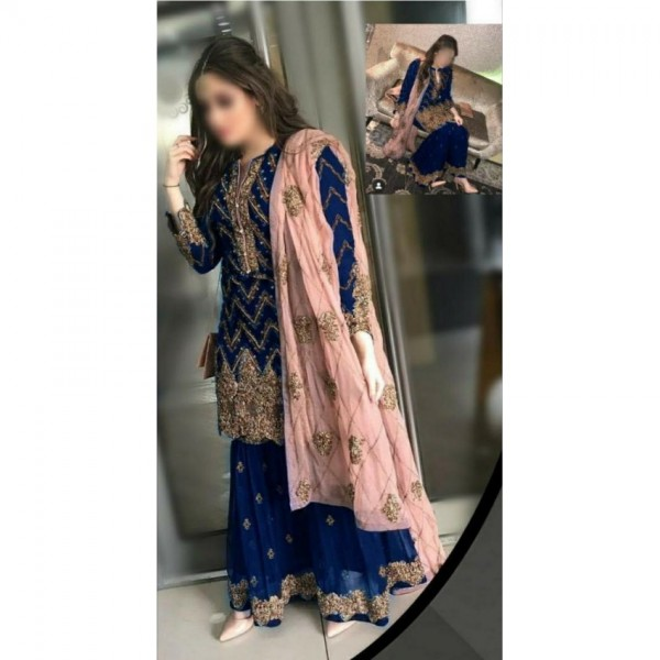 Best Women Party Wear Dress With Chiffon Dupatta