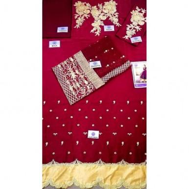 Sequence n zari embroidery Full length Dress