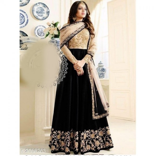 Chiffon Embroidred MAxi For Womens