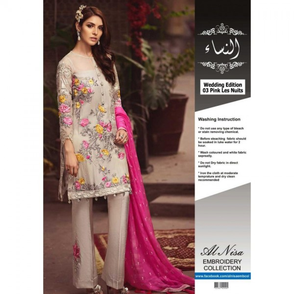 Handwork and Zari Work Embroidery Dress for Ladies