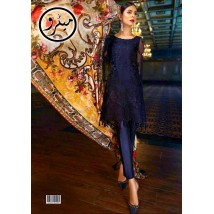 Beautifull net dress with digital printed silk dupatta