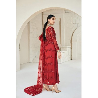 Net embroidery suit with Net embroidery dupatta